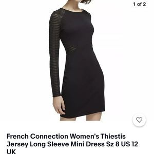 French Connection Thiestis Long Sleeve Dress 8
